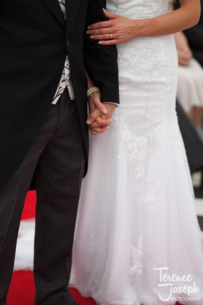 Bryony & Michael hand in hand