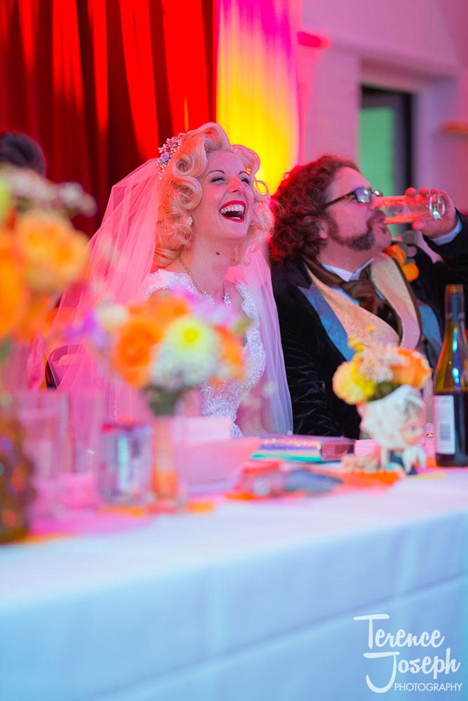 Dr.Who and Marilyn Munroe Keston Village Hall Wedding