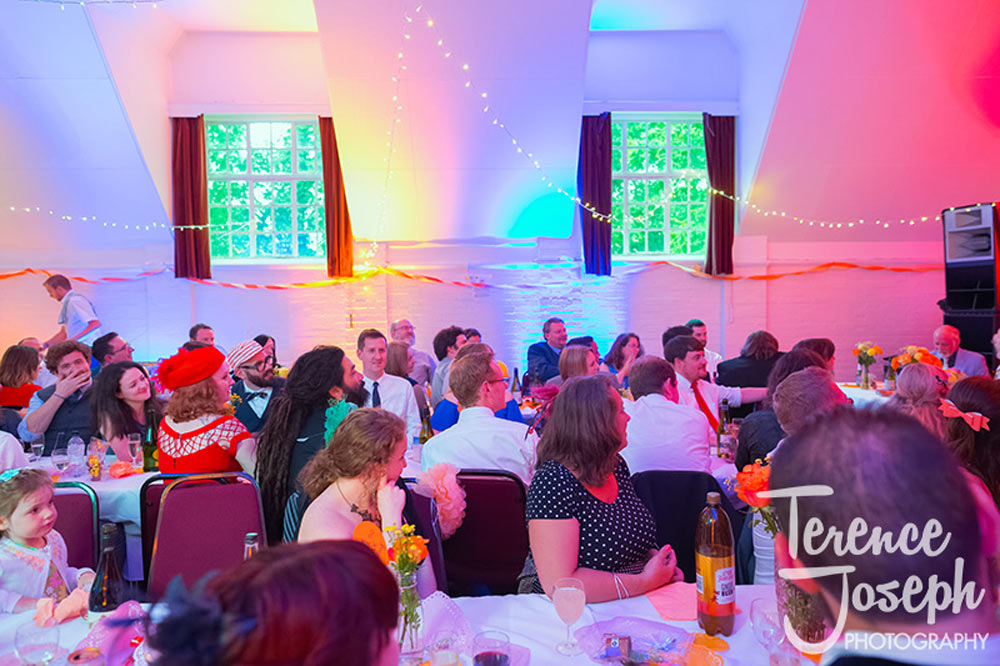 Guests in Keston Village Hall Wedding