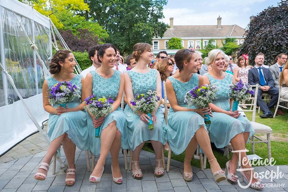Bridesmaid and guests