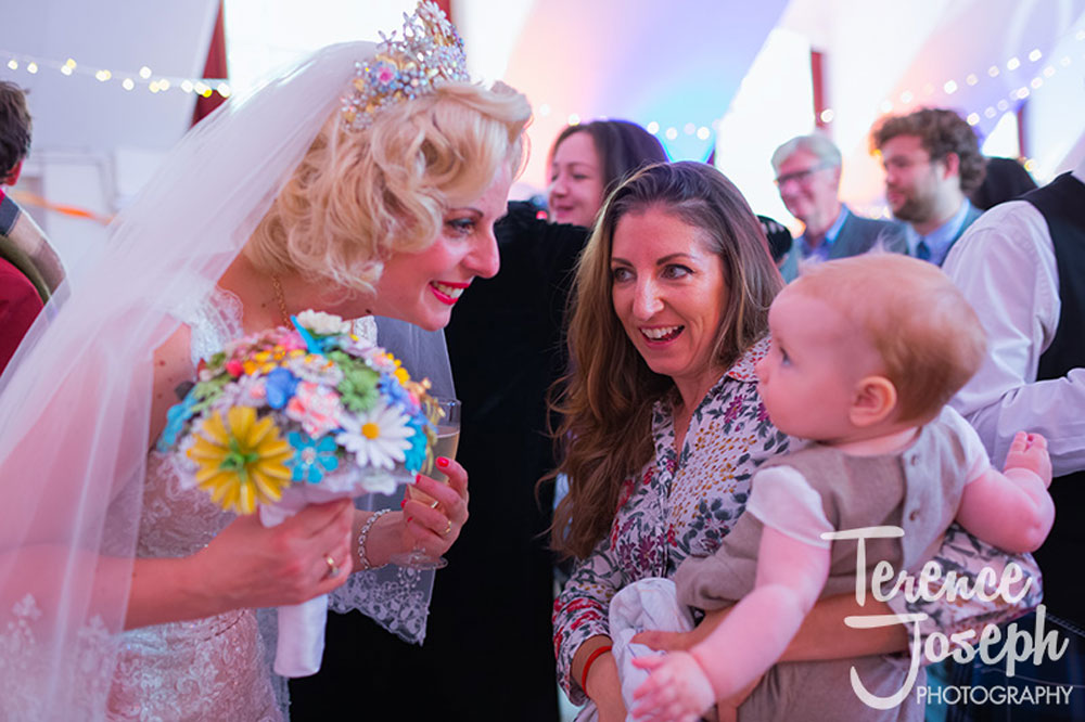 Bride with cute kid