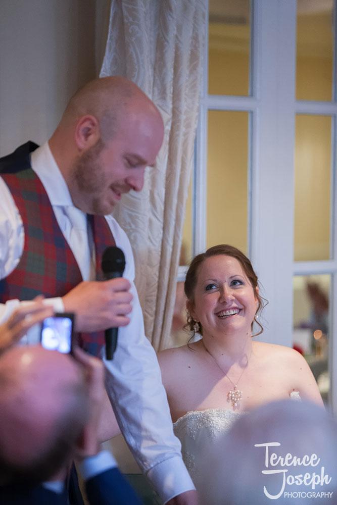 Wedding speeches at Charlton Mitre Hotel in Hampton Court