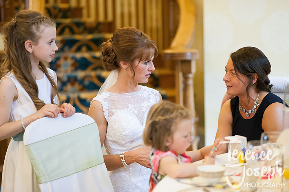 Bride with Guests and kids
