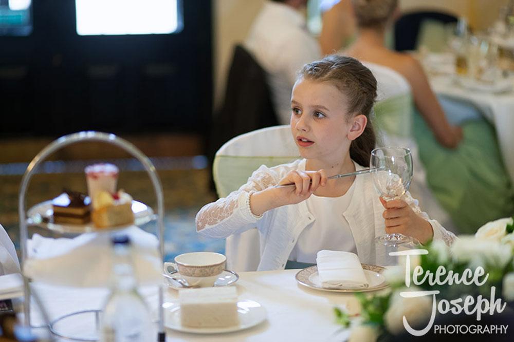 Girl Holding Glass