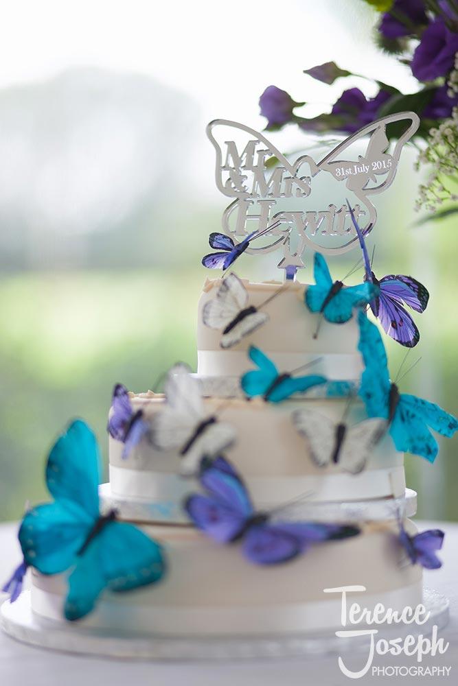 Hilary & Oscar wedding cake