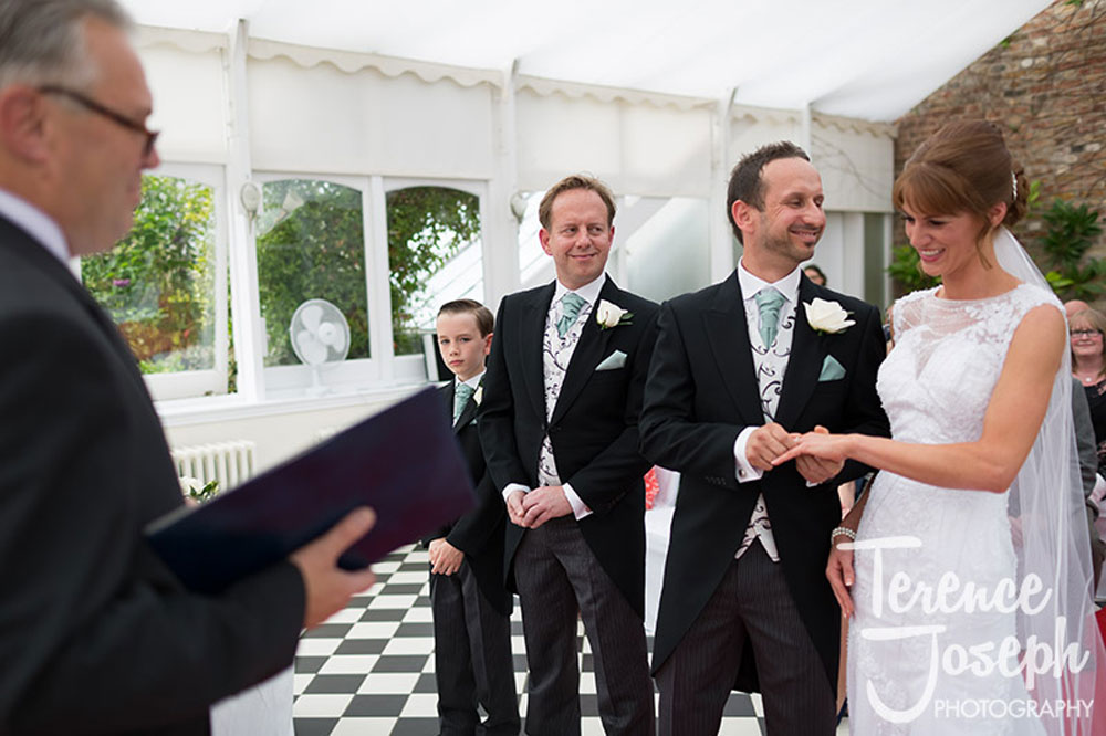 Bryony & Michael Exchanging Rings