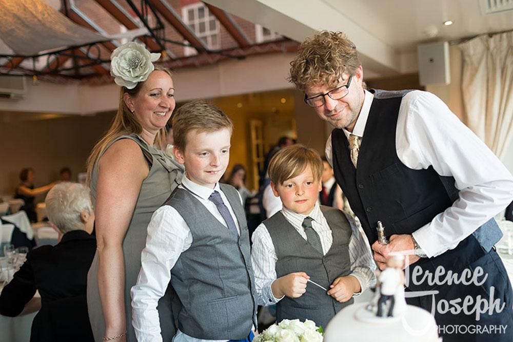 Wedding breakfast at Charlton Mitre Hotel in Hampton Court