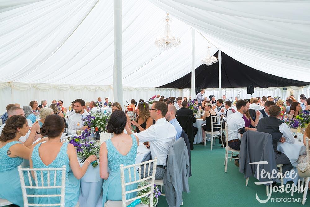 Guests at Hilary & Oscar wedding