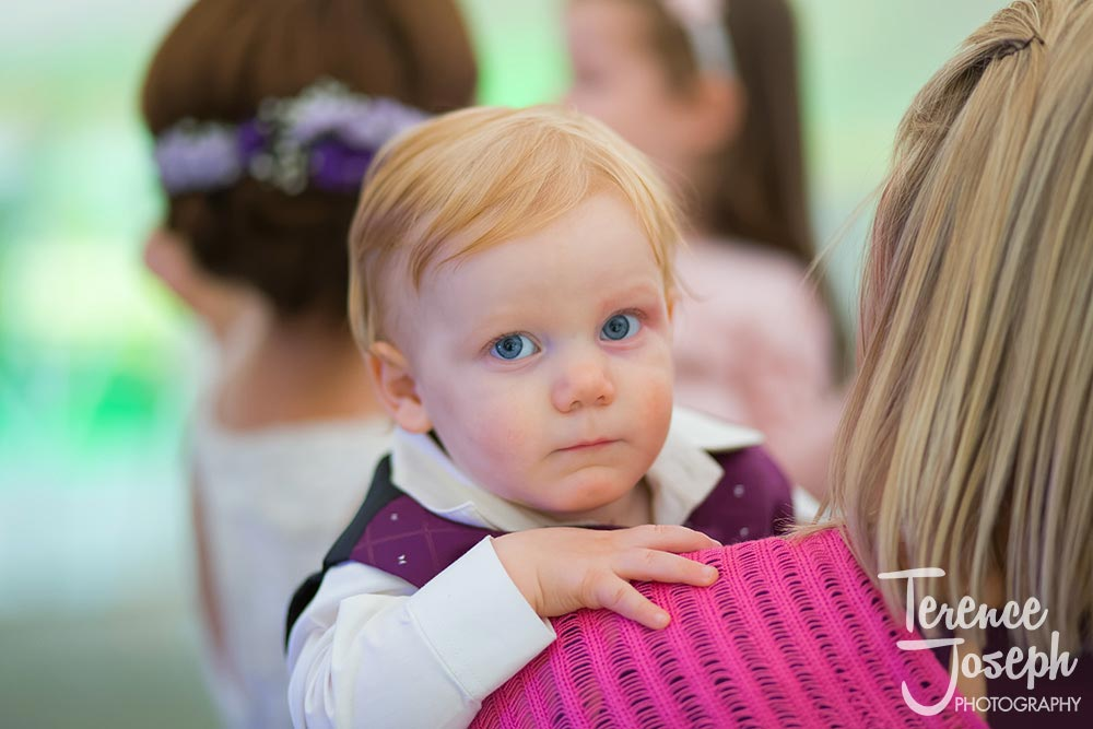 Kid at Hilary & Oscar wedding