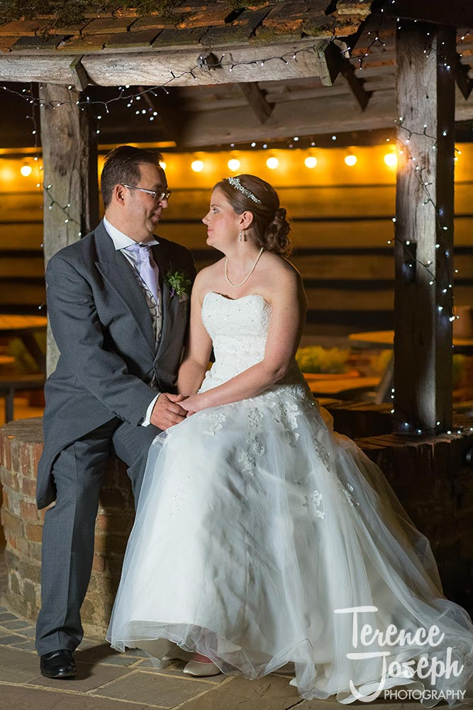 Beautiful evening portrait Of Bride and Groom
