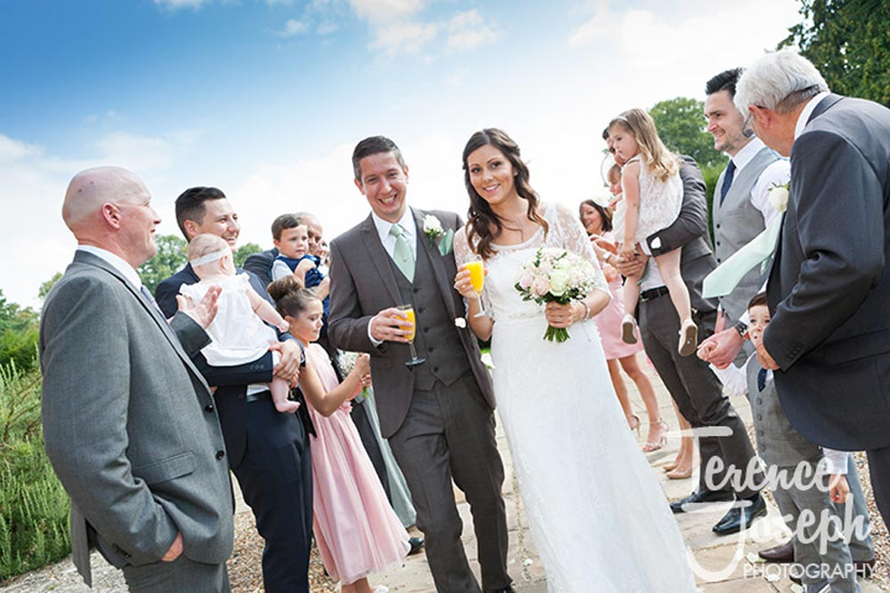 Confetti happiness at Oakwood House in Maidstone
