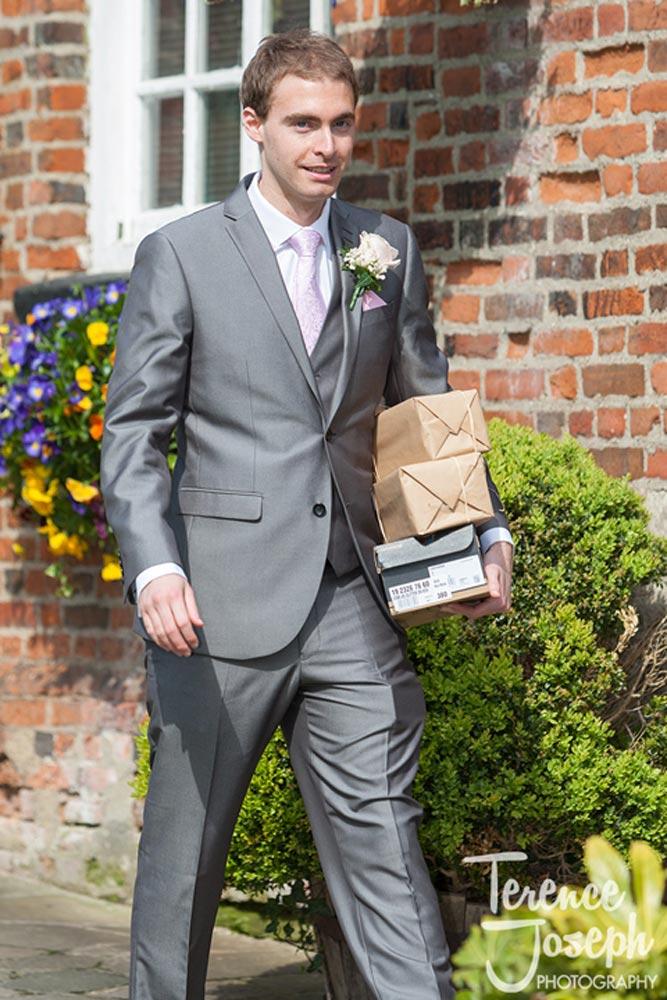 Groom brings bridal gifts