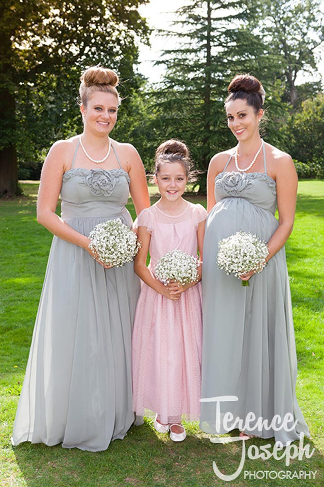Bridesmaids with cute little kid