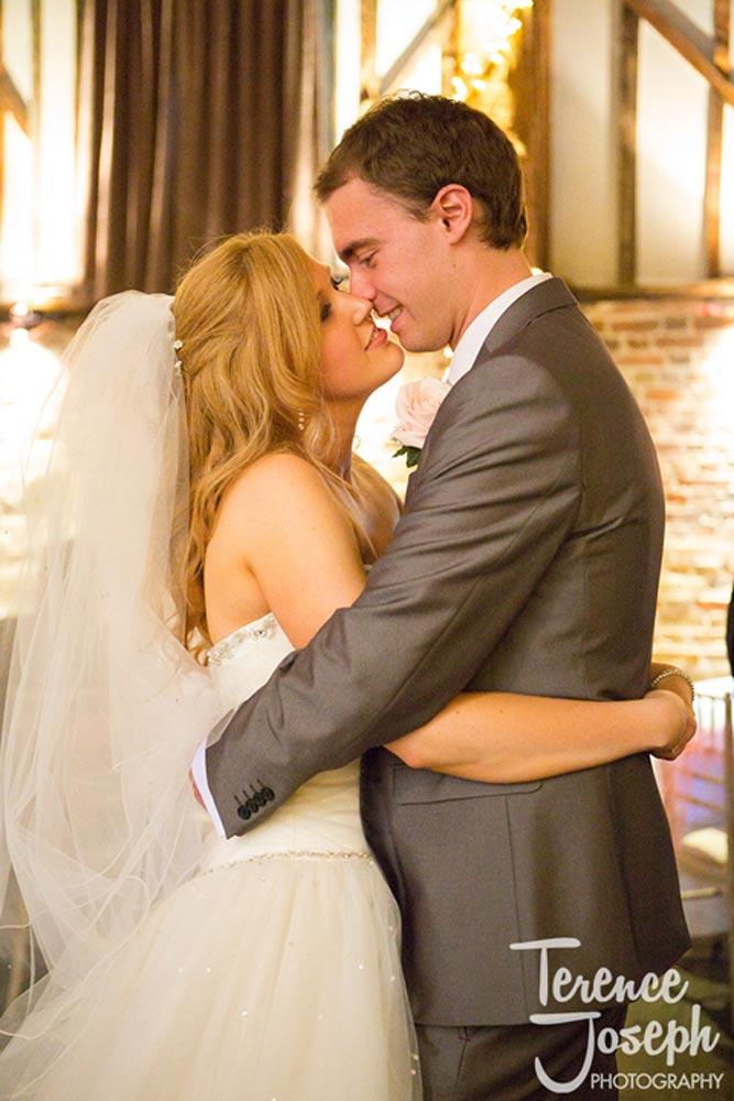 Bridal embrace on the dance floor