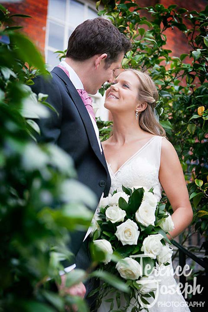 Bride and groom beautiful wedding portraits in Greenwich Park London