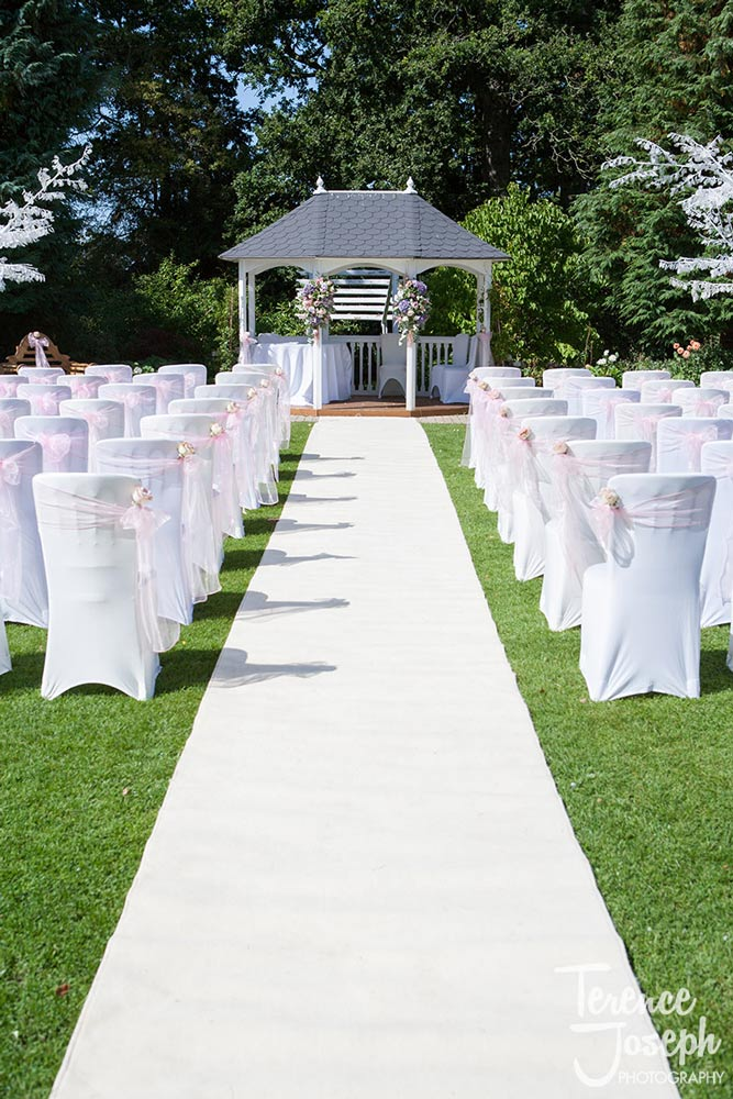 Wedding Ceremony seats are ready to go for this Summer Wedding