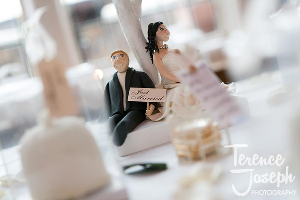Funny wedding table decoration