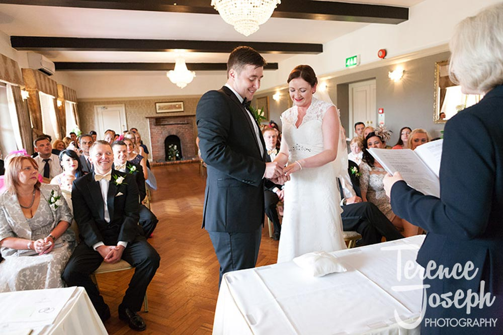 Wedding ceremony at The Cavendish Eastcote