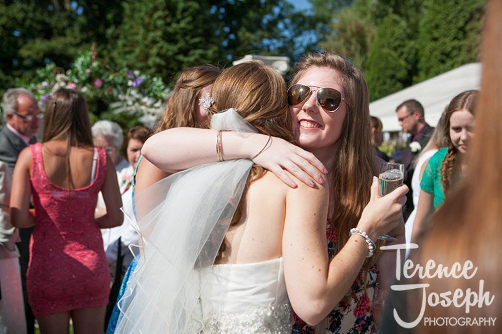 Congratulations from friends at Summer Wedding