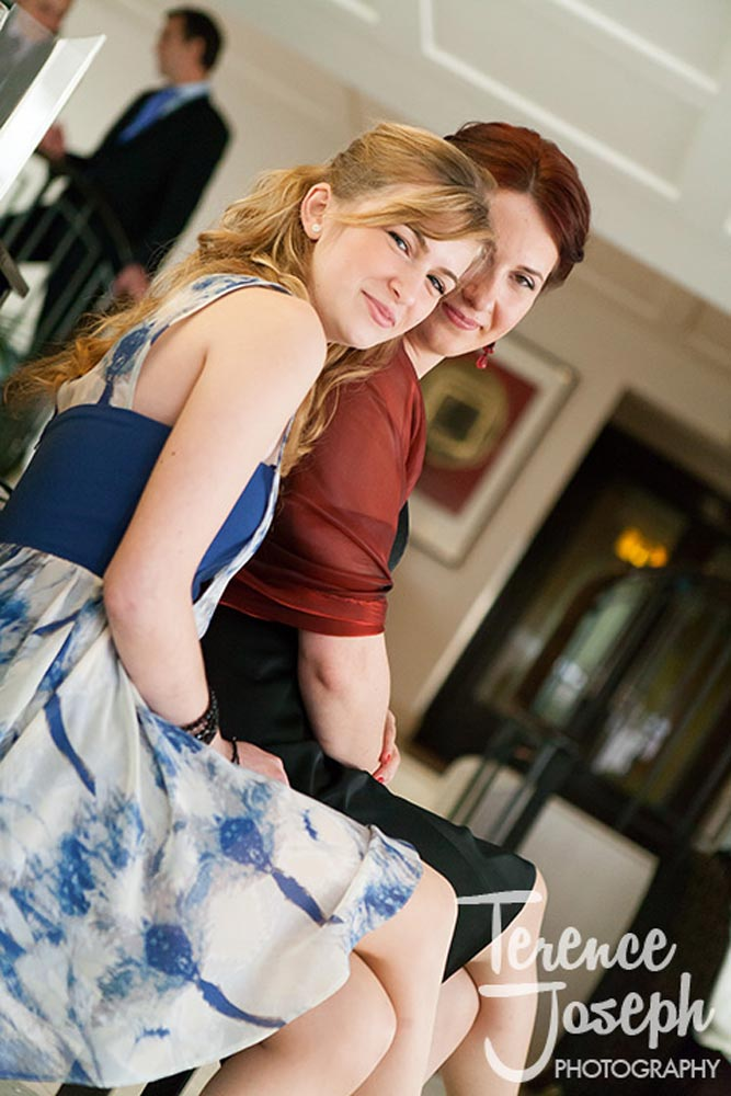 Happy wedding guests during reception at Moran Hotel London