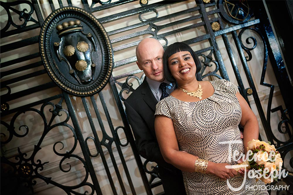 Wedding portrait entrance St James' Court- Taj Hotel