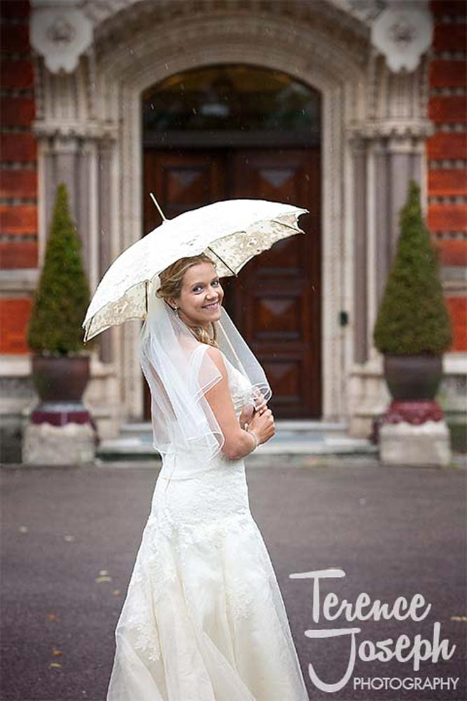 Bride and groom beautiful wedding portraits at Dulwich College in London