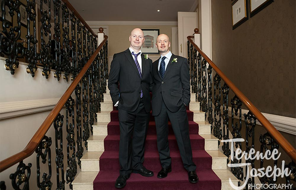 Groom and brother at St James' Court Taj Hotel London