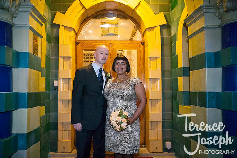 Wedding portrait St James' Court- Taj Hotel London