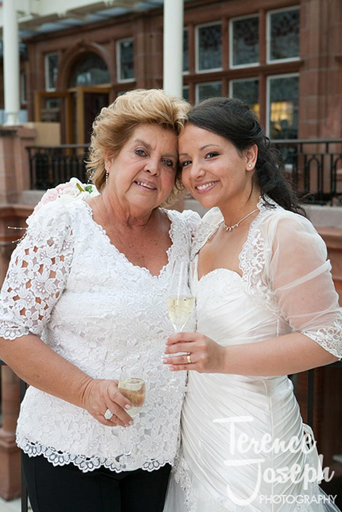Lovely bride and mother wedding portrait at Moran Hotel London