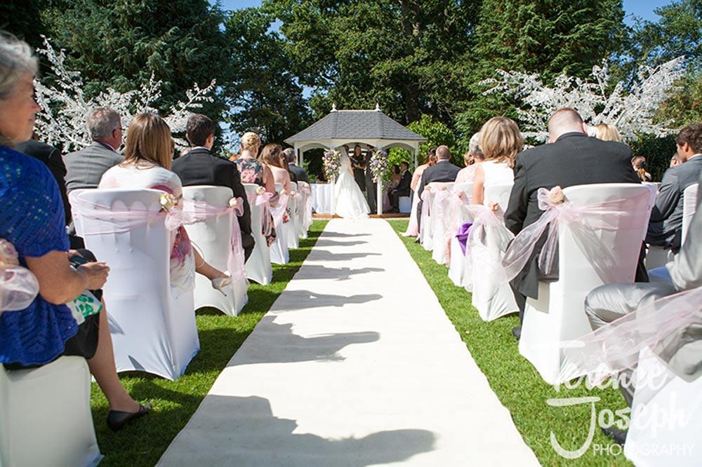 Outdoor Garden Wedding Ceremony in Reading