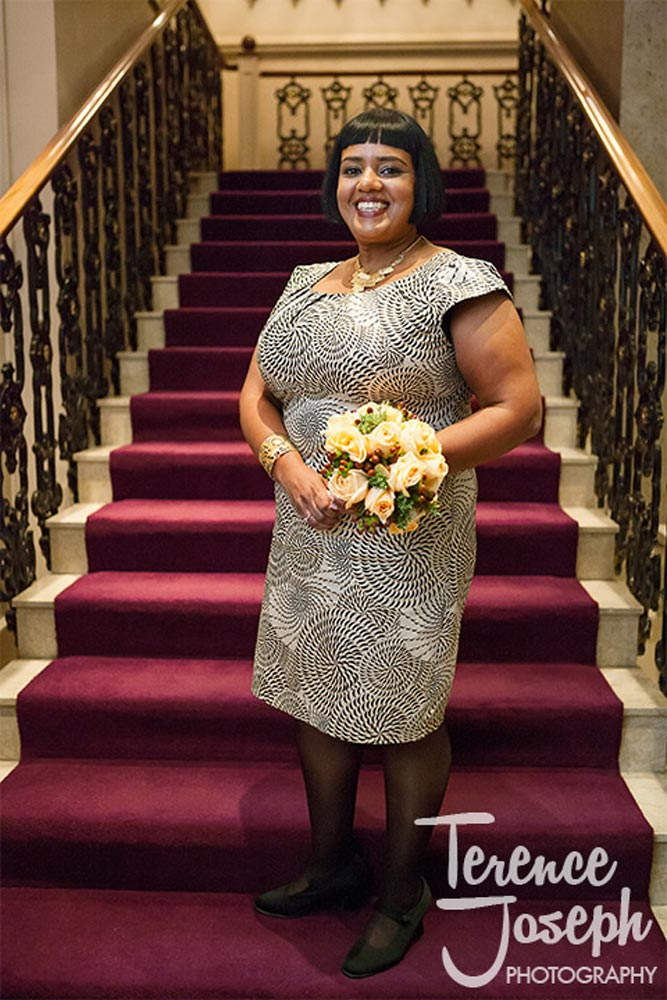 Bridal portrait at St James' Court London
