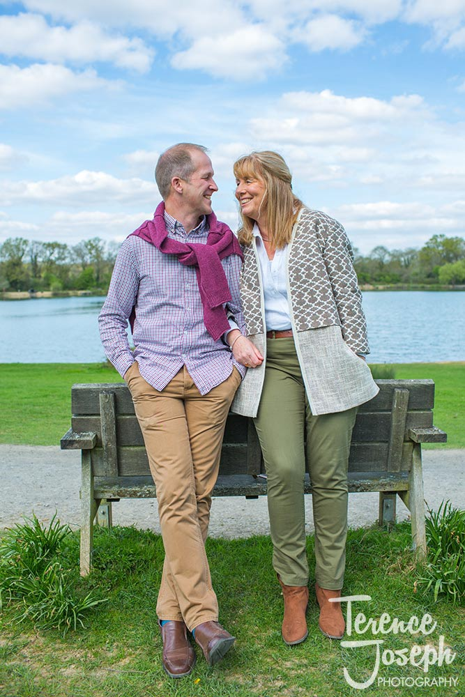 Portrait of engagement photos at Haysden country park by Kent Wedding Photographer
