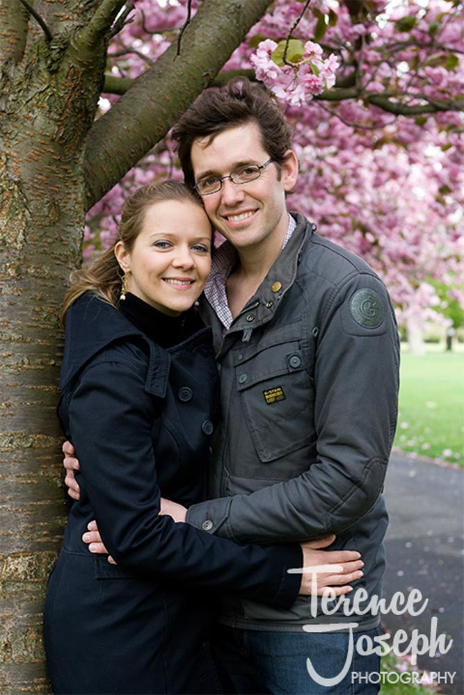 Natural engagement portrait at Greenwich Park