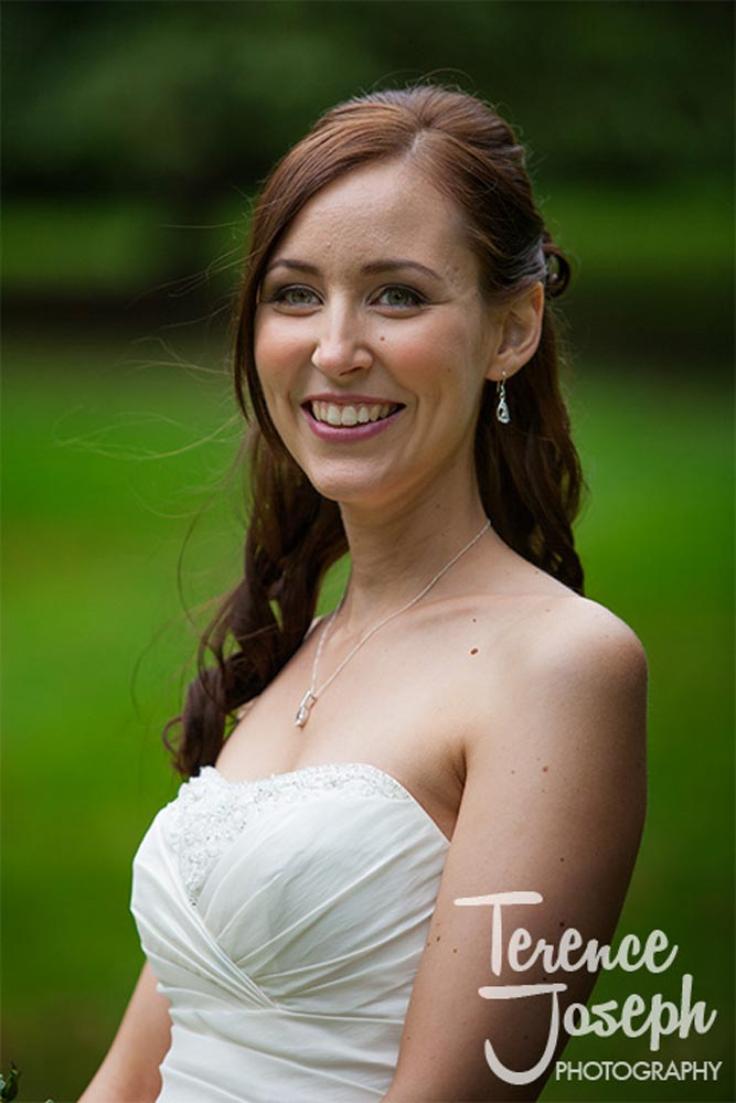 Beautiful bride with lovely makeup