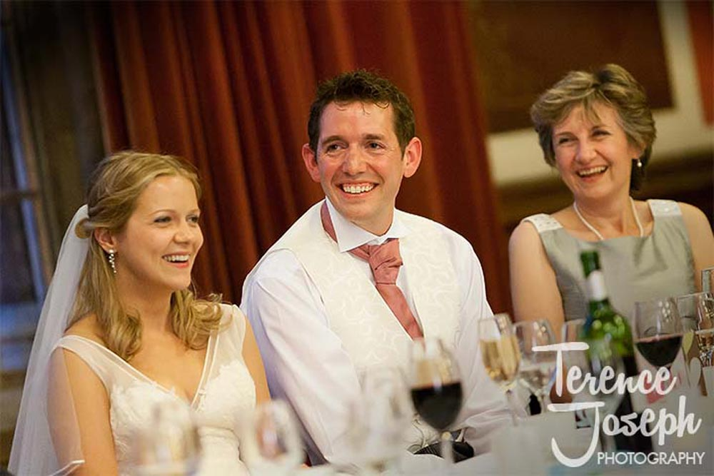 Wedding Speeches in the Great Hall Dulwich College London