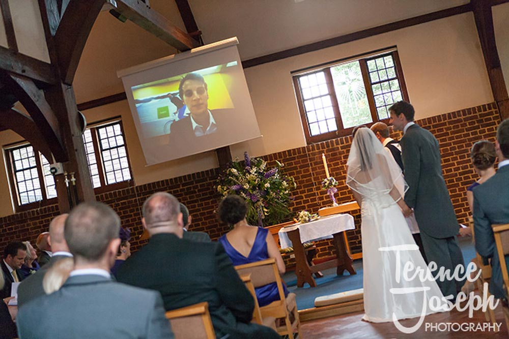 Video messeges at wedding