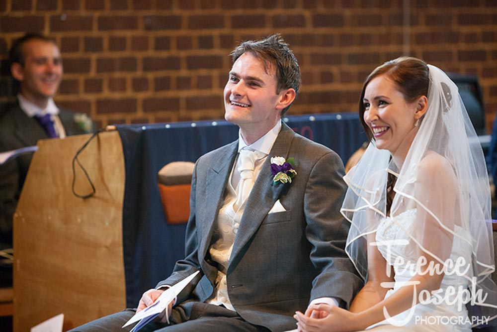 Very happy bride and groom