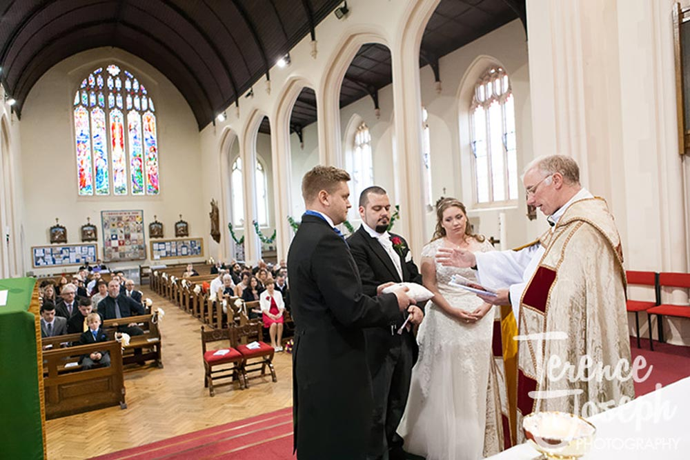 Exchange of rings at Christ Church London